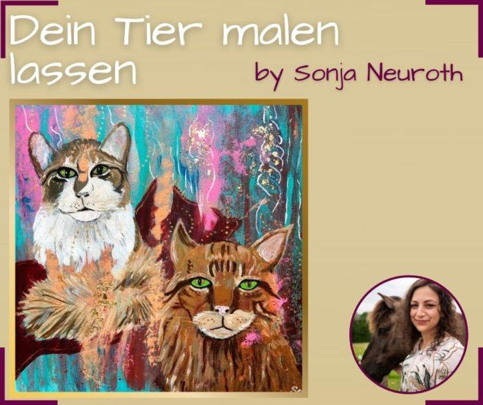 Tier malen lassen auf Leinwand Tierportrait Hund Katze Pferd