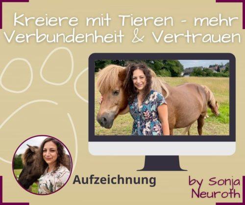 Kreiere mit Tieren Tierkommunikation Animal Creation Verbundenheit