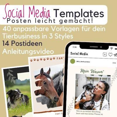 Tierbusiness Social Media Templates