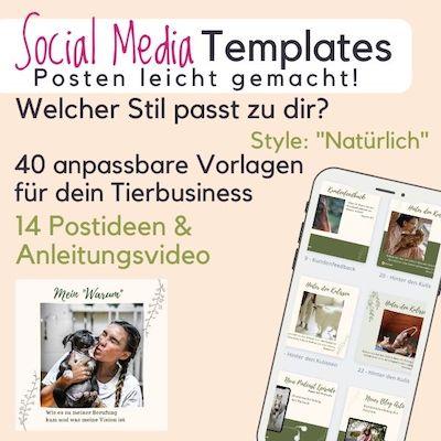 Tierbusiness Social Media Vorlagen