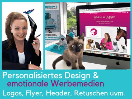 Personal Branding Logo Visitenkarten Tierbusiness Berufung mit Tieren